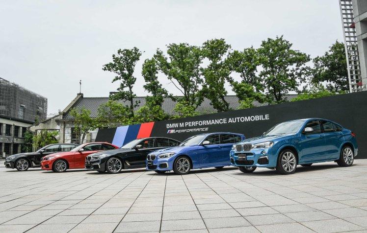 [新聞照片三] (從左至右)BMW M760Li xDrive, BMW M240i, BMW M550i xDrive, BMW M140i, BMW X4 M40i