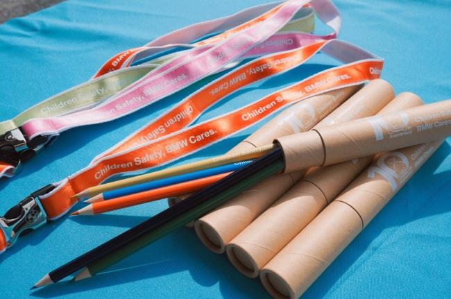 2017 BMW 台北 依德 兒童 交通安全 體驗營 中和 永和 四號公園 活動 獎品 贈品 色鉛筆